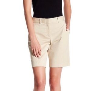 NWT Theory • Valby New Chino Khaki Bermuda Shorts.